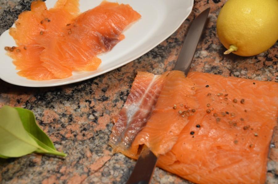 Trancher le saumon fumé selon Stéphane
