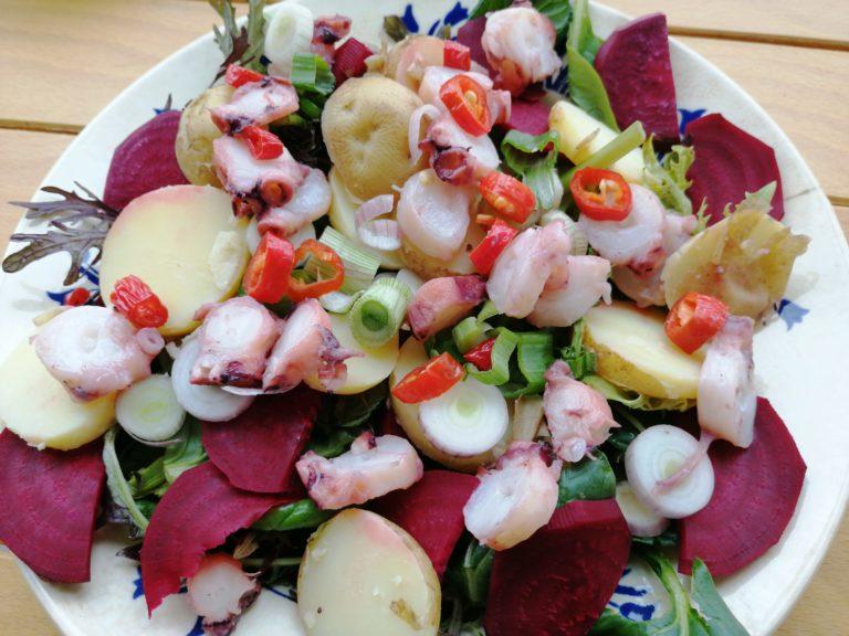 Recette salade poulpe